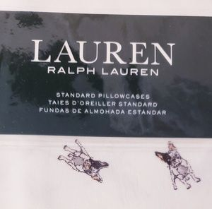 New Ralph Lauren Frenchie Pillowcase Sets